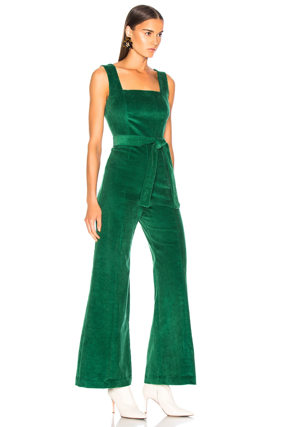 Image 2 of Staud Travis Jumpsuit in Emerald