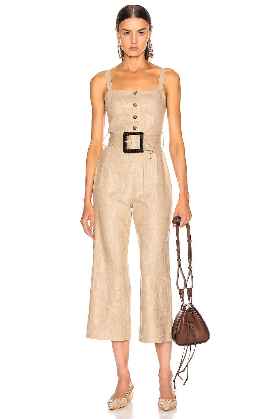 Image 1 of Staud Bay Jumpsuit in Sand