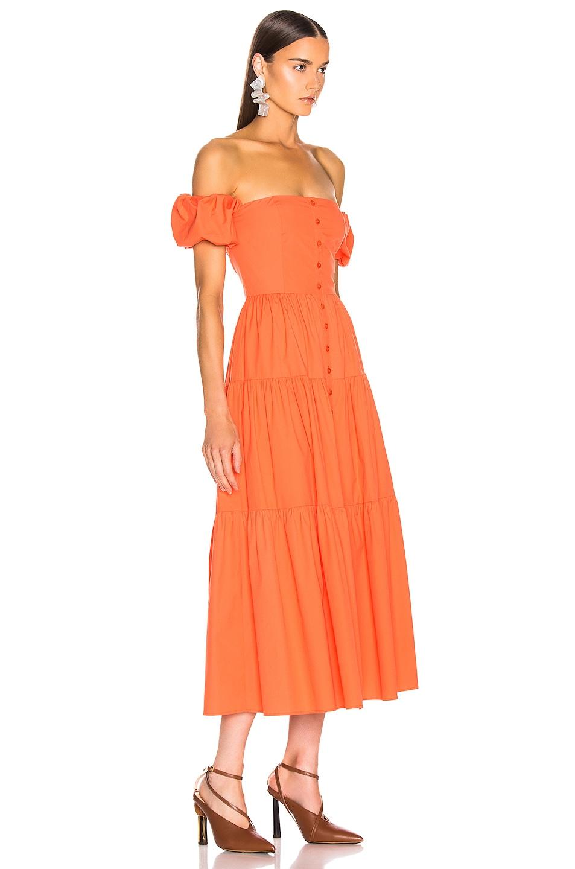 Image 2 of Staud Elio Dress in Tangerine in Tangerine