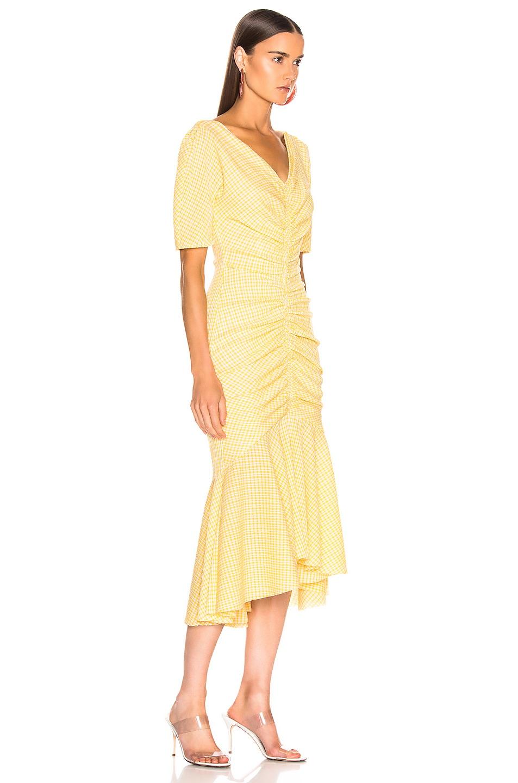 Image 2 of Staud Panier Dress in Yellow Gingham