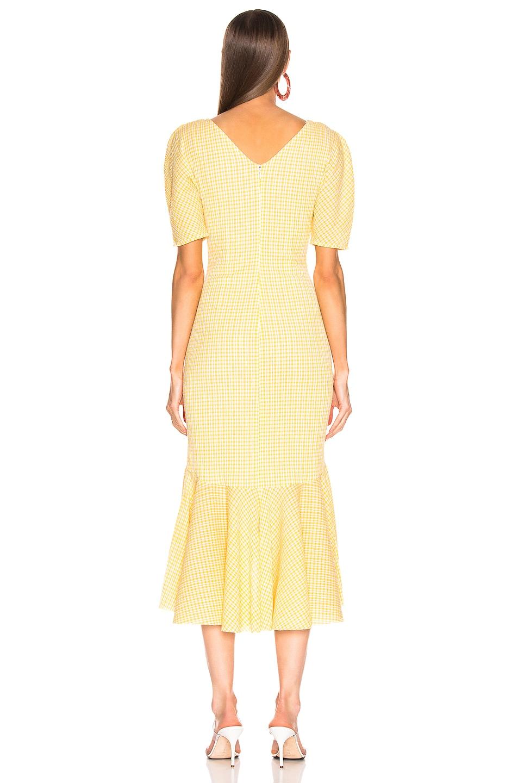 Image 3 of Staud Panier Dress in Yellow Gingham