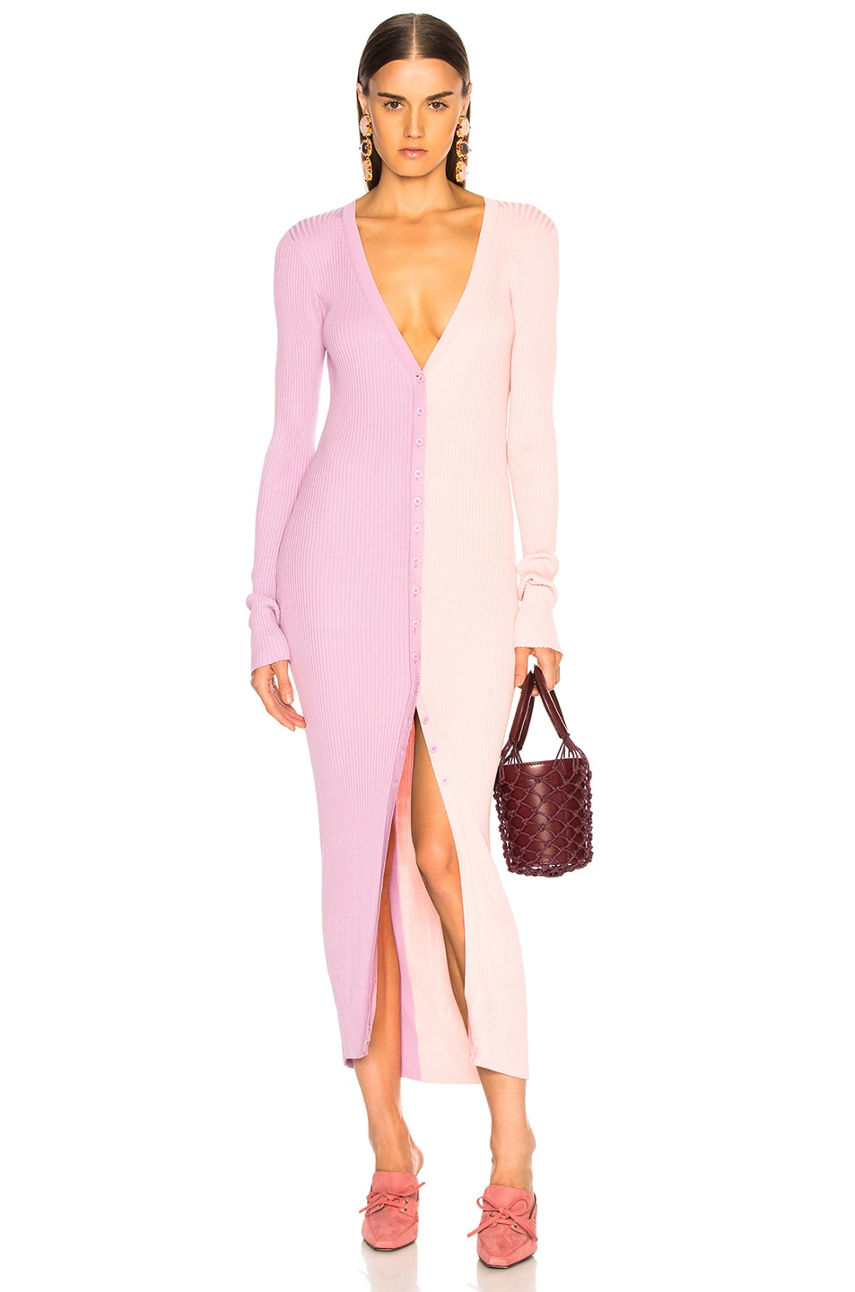 Image 1 of Staud Shoko Dress in Orchid   Rose 01561ac99e