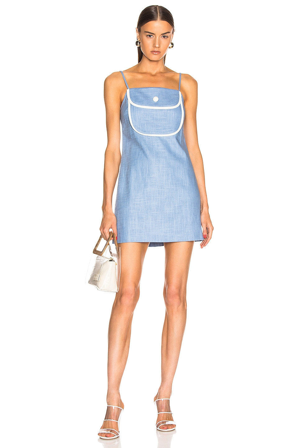 Image 4 of Staud Dora Dress in Coastal Blue
