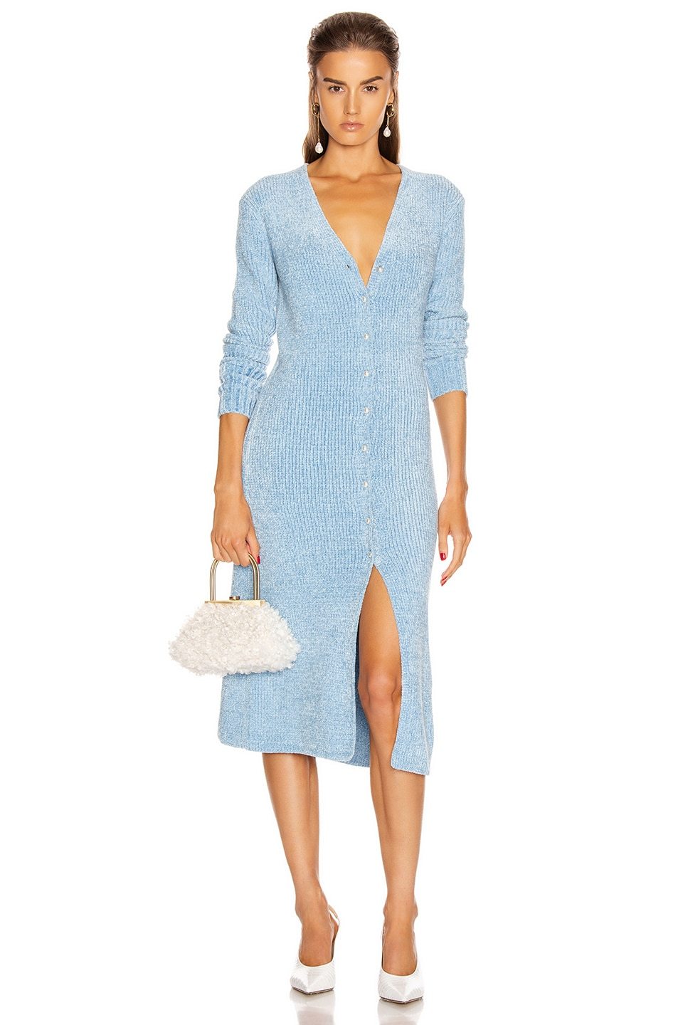 Image 1 of Staud Rory Sweater Dress in Ice Blue
