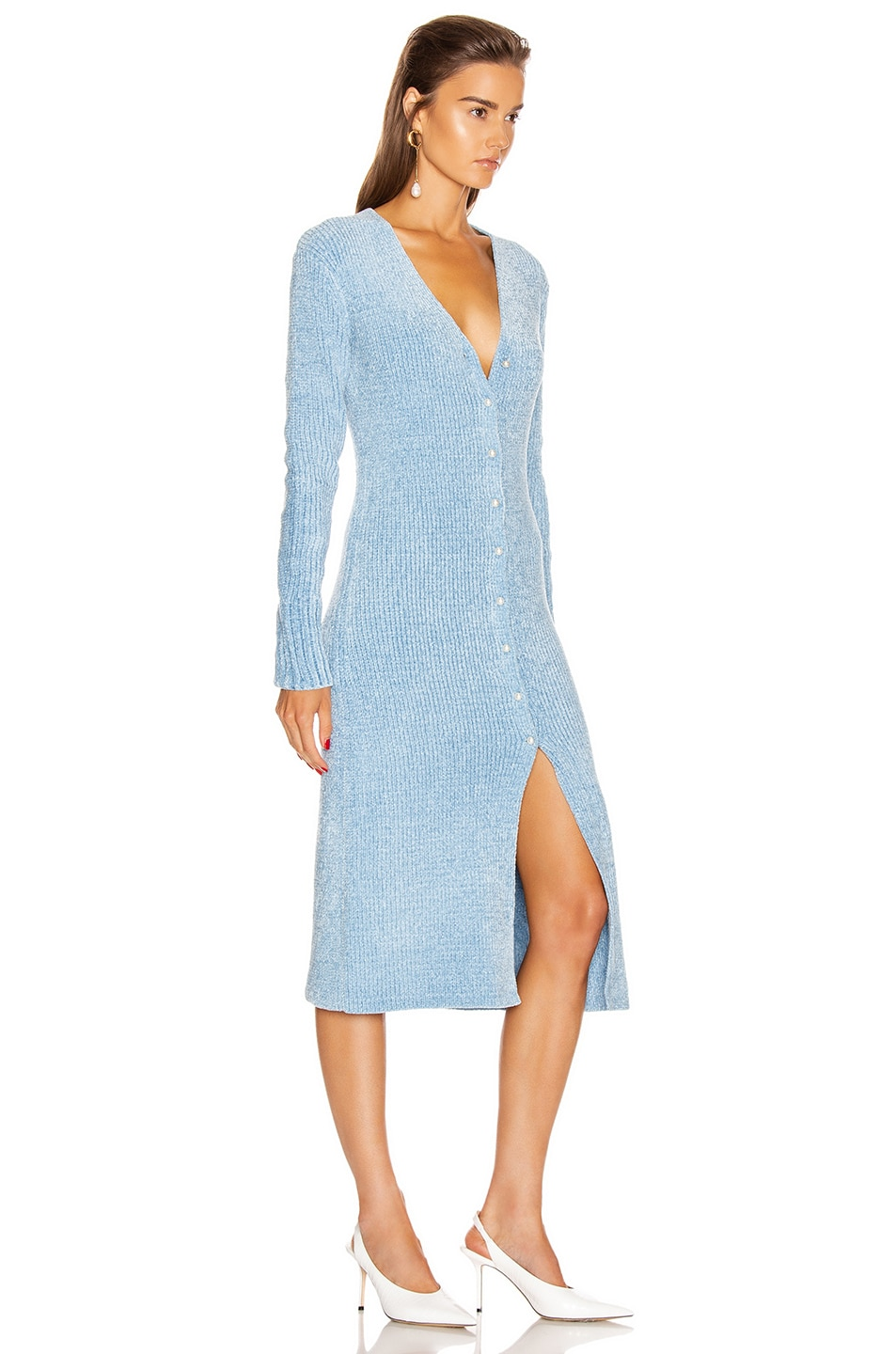 Image 2 of Staud Rory Sweater Dress in Ice Blue