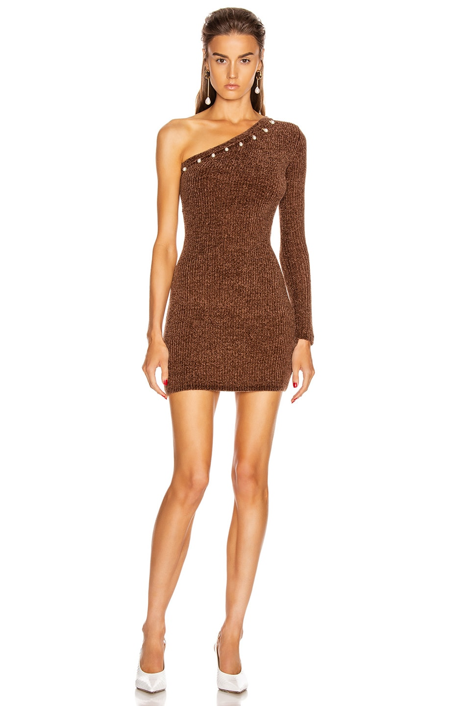 Image 1 of Staud Lindsey Dress in Mocha