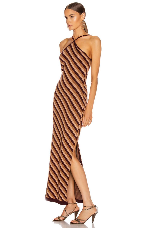 Image 3 of Staud Carmel Dress in Brown Multi Diamond