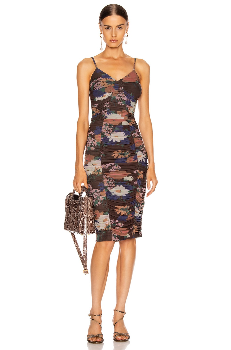Image 1 of Staud Hendrix Dress in Black Floral