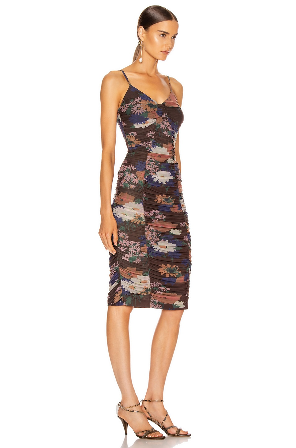 Image 2 of Staud Hendrix Dress in Black Floral