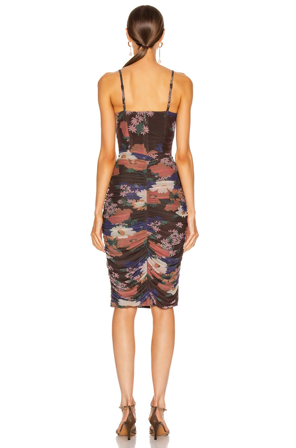 Image 3 of Staud Hendrix Dress in Black Floral