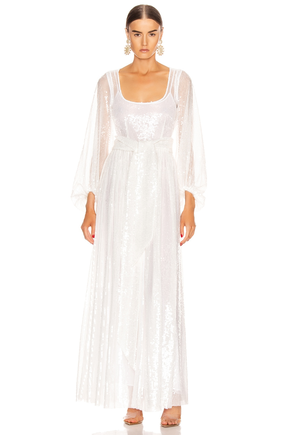 Image 1 of Staud Pearl Dress in Clear Sequin