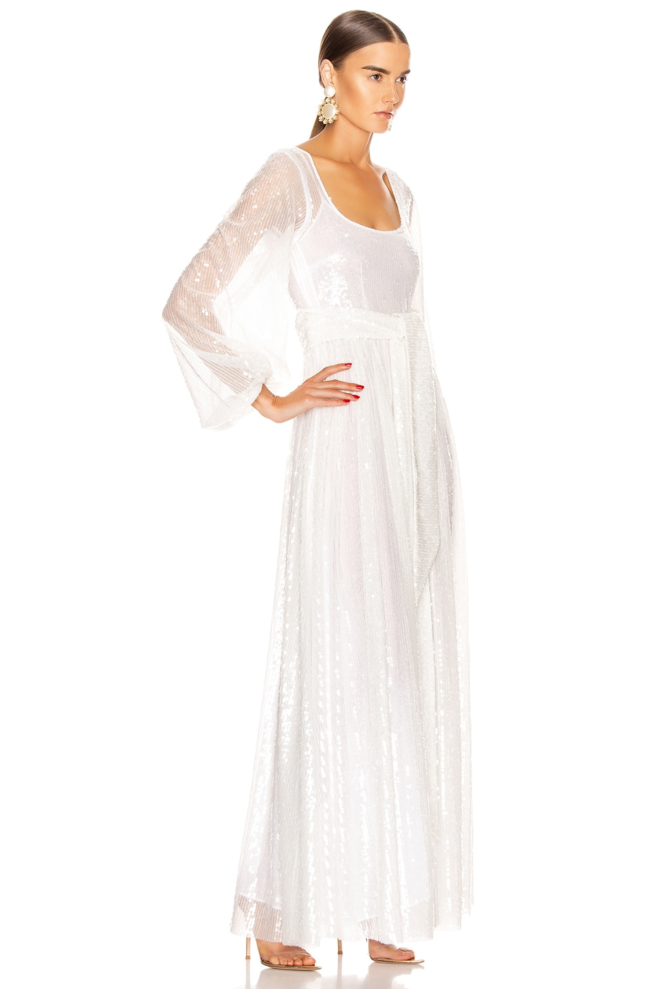 Image 2 of Staud Pearl Dress in Clear Sequin