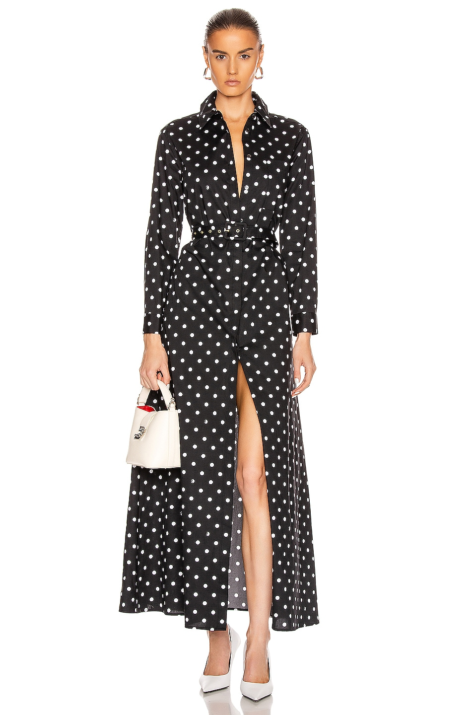 Image 1 of Staud Daisy Dress in Black Dot