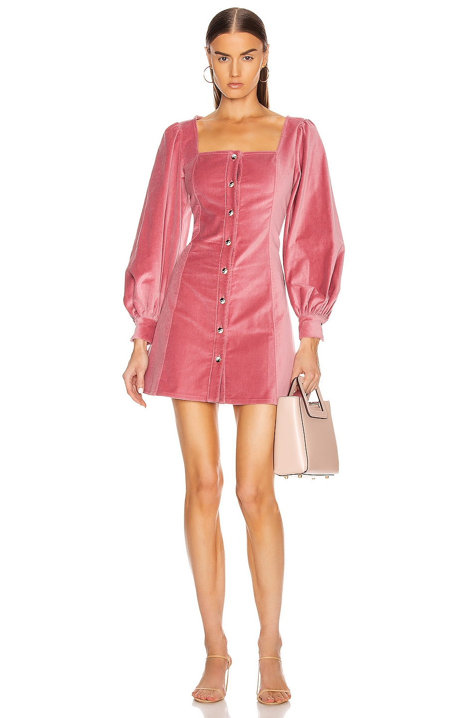 Image 1 of Staud Chandler Dress in Dusty Rose