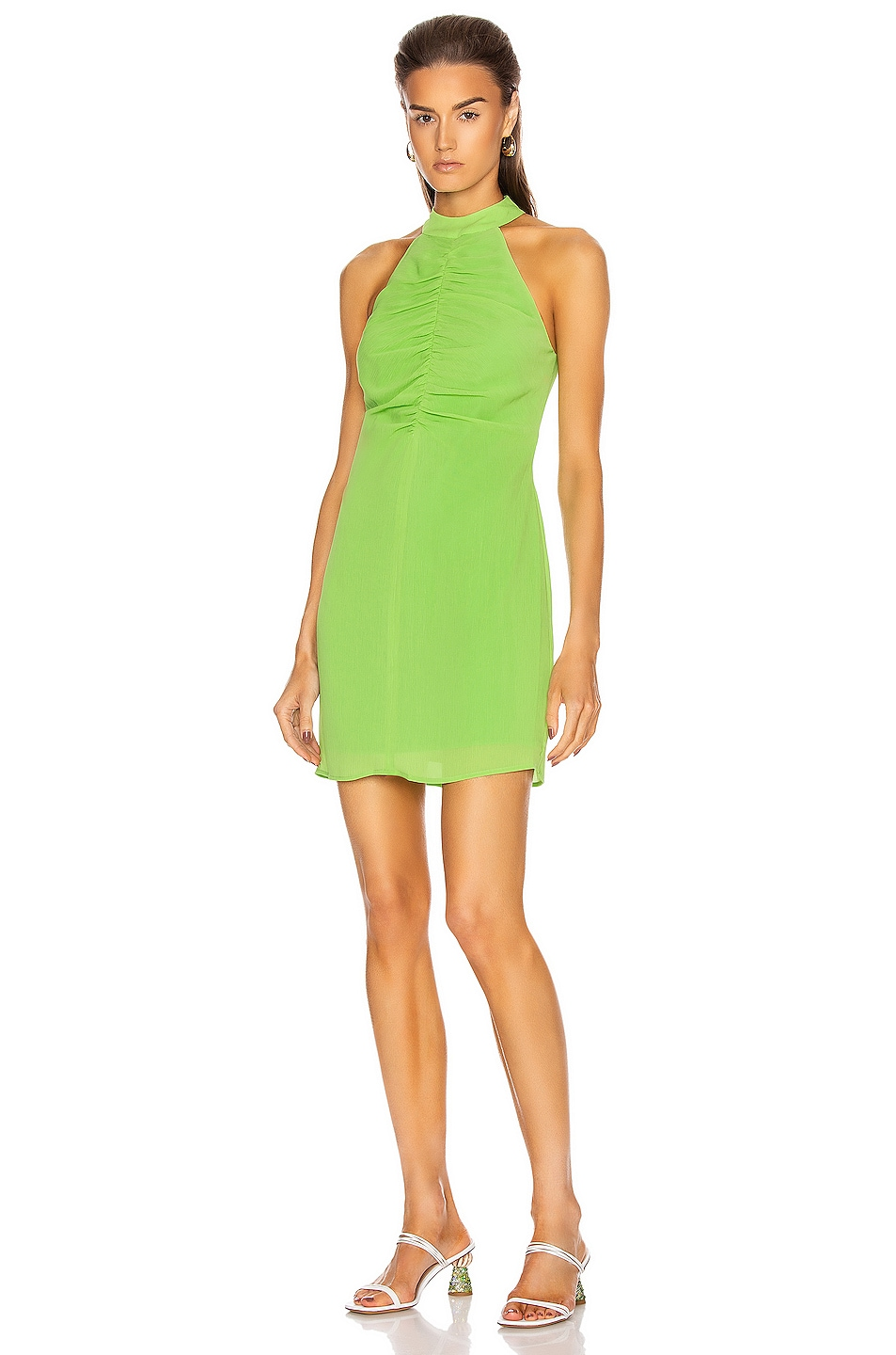 Image 1 of Staud Mini Coastal Dress in Key Lime