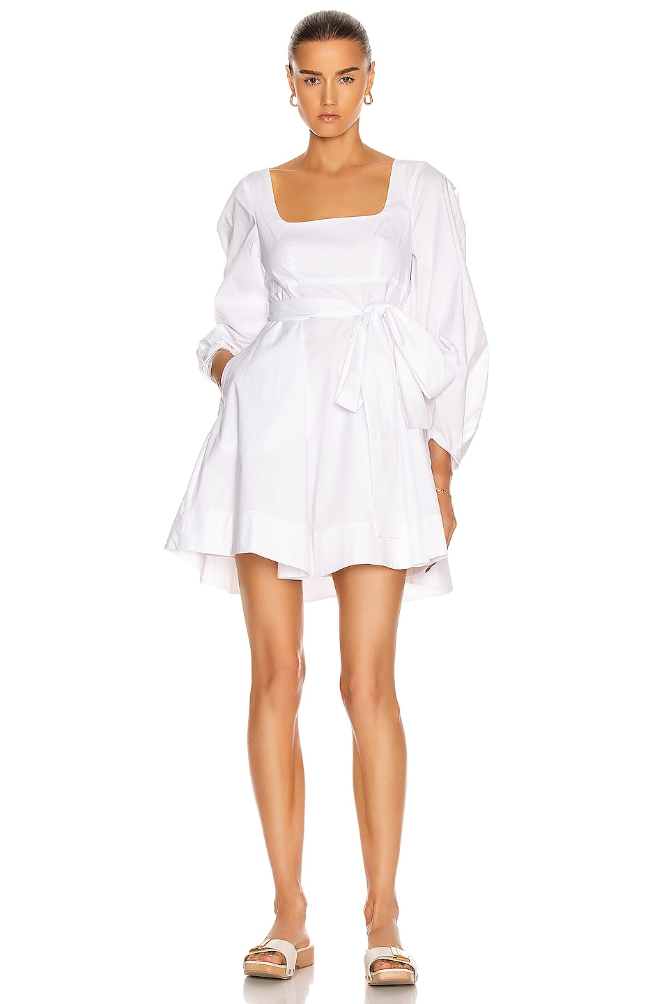 Image 1 of Staud Isabella Dress in White
