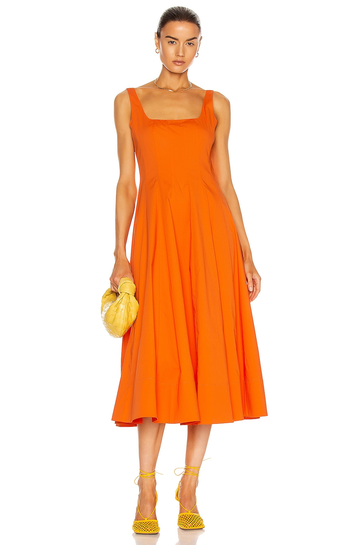 Image 1 of Staud Wells Dress in Nectarine