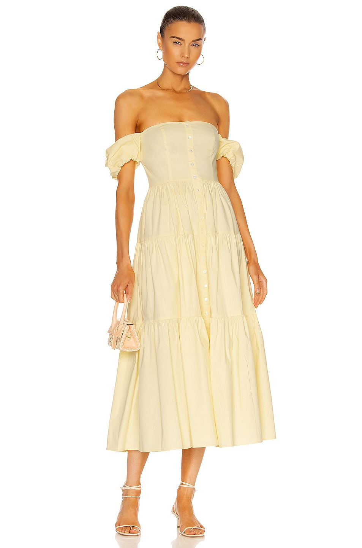 Image 1 of Staud Elio Dress in Ginger