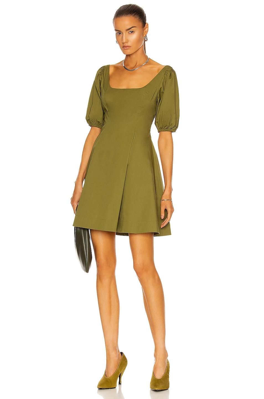 Image 1 of Staud Laelia Dress in Olive