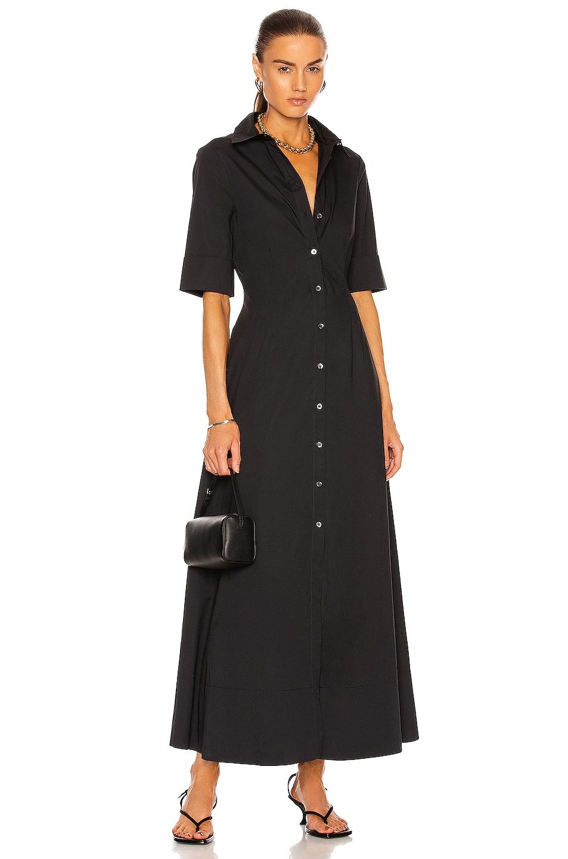 Image 1 of Staud Joan Maxi Dress in Black