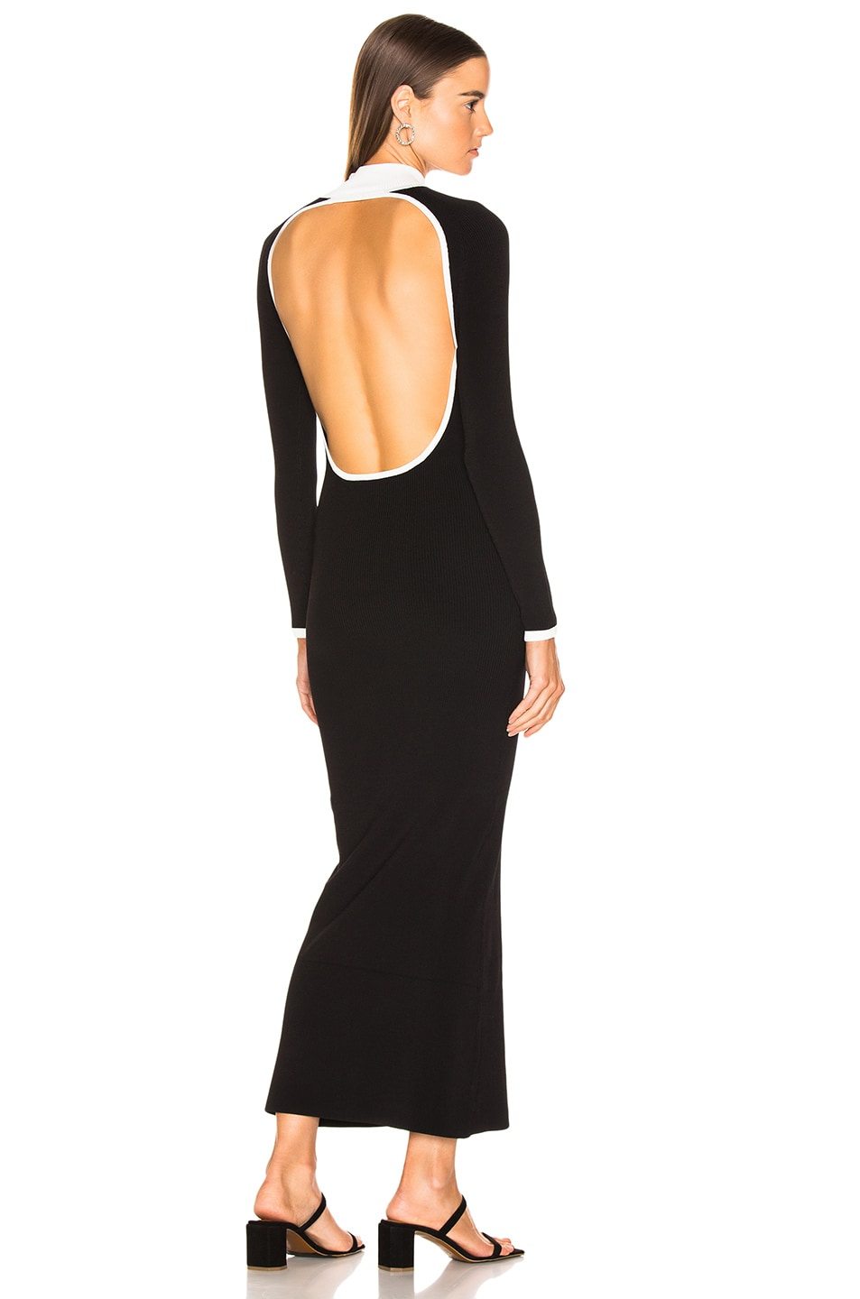 Image 1 of Staud Avenue Dress in Black & Opal