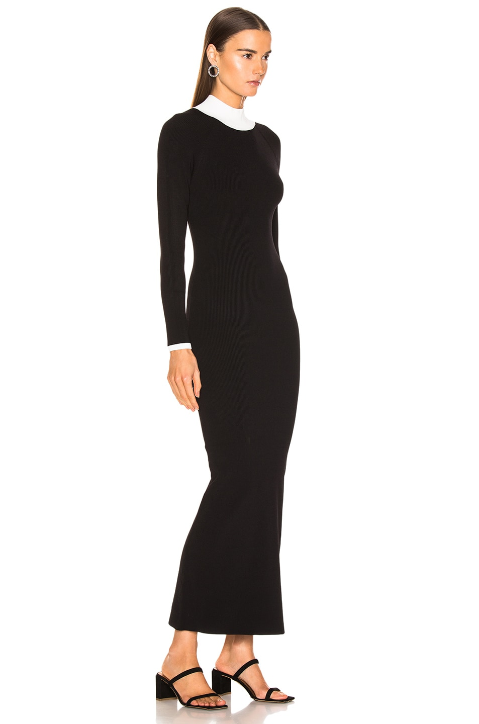 Image 3 of Staud Avenue Dress in Black & Opal