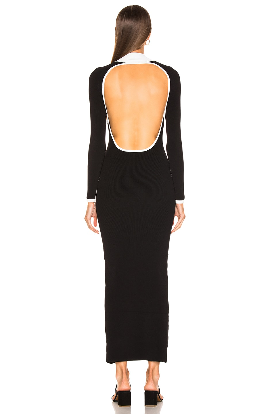 Image 4 of Staud Avenue Dress in Black & Opal