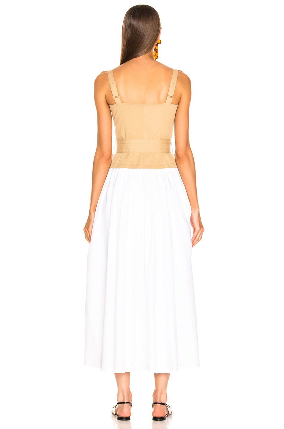 Image 3 of Staud Marina Dress in Sand & White