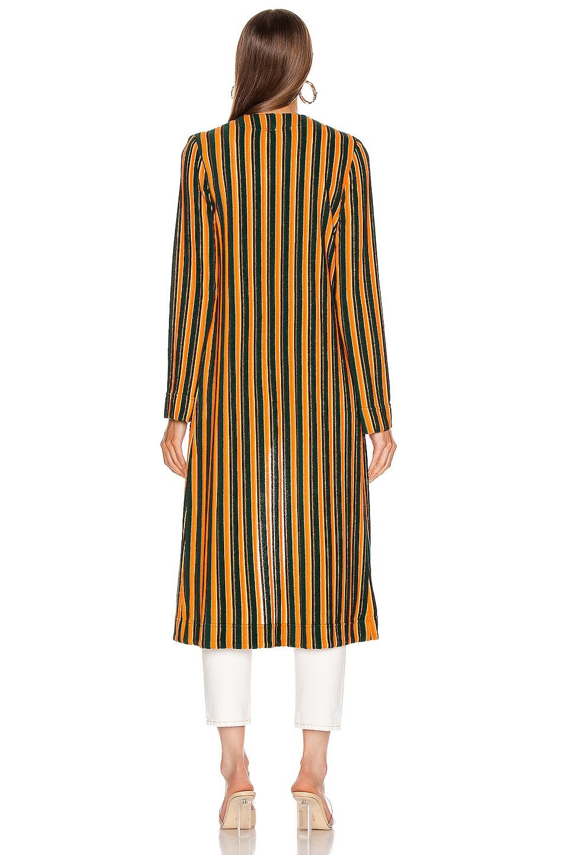 Image 4 of Staud Mia Robe in Pistachio & Cantaloupe Stripe