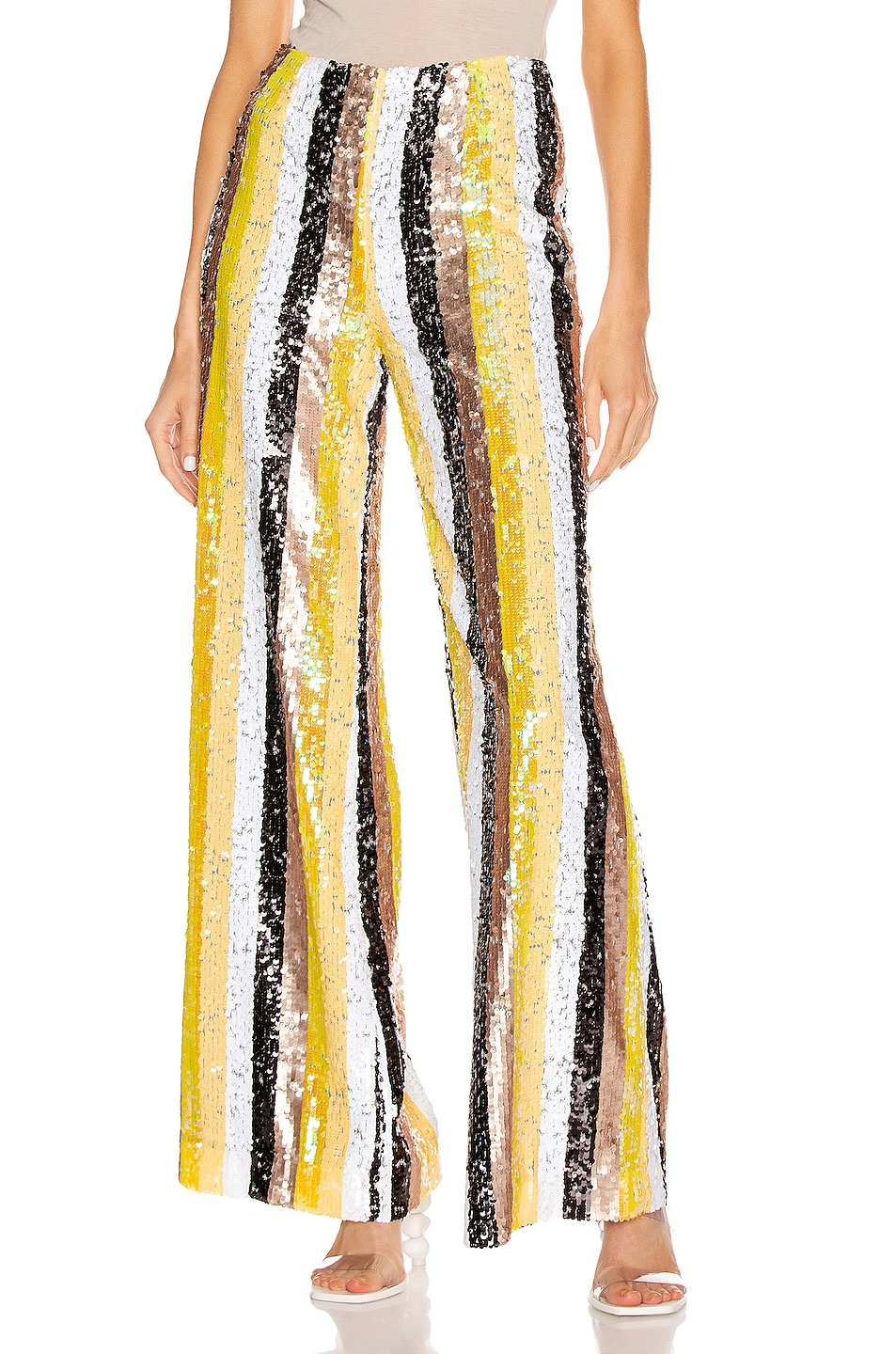 Image 1 of Staud Stage Pant in Buttercup Multi