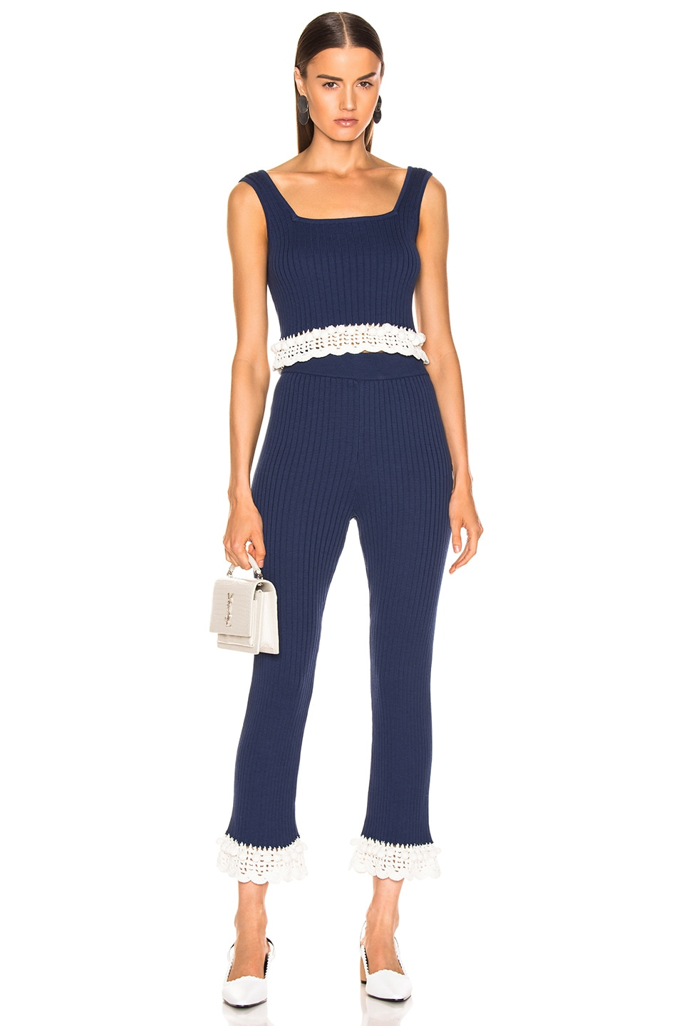 Image 4 of Staud Delon Pant in Navy