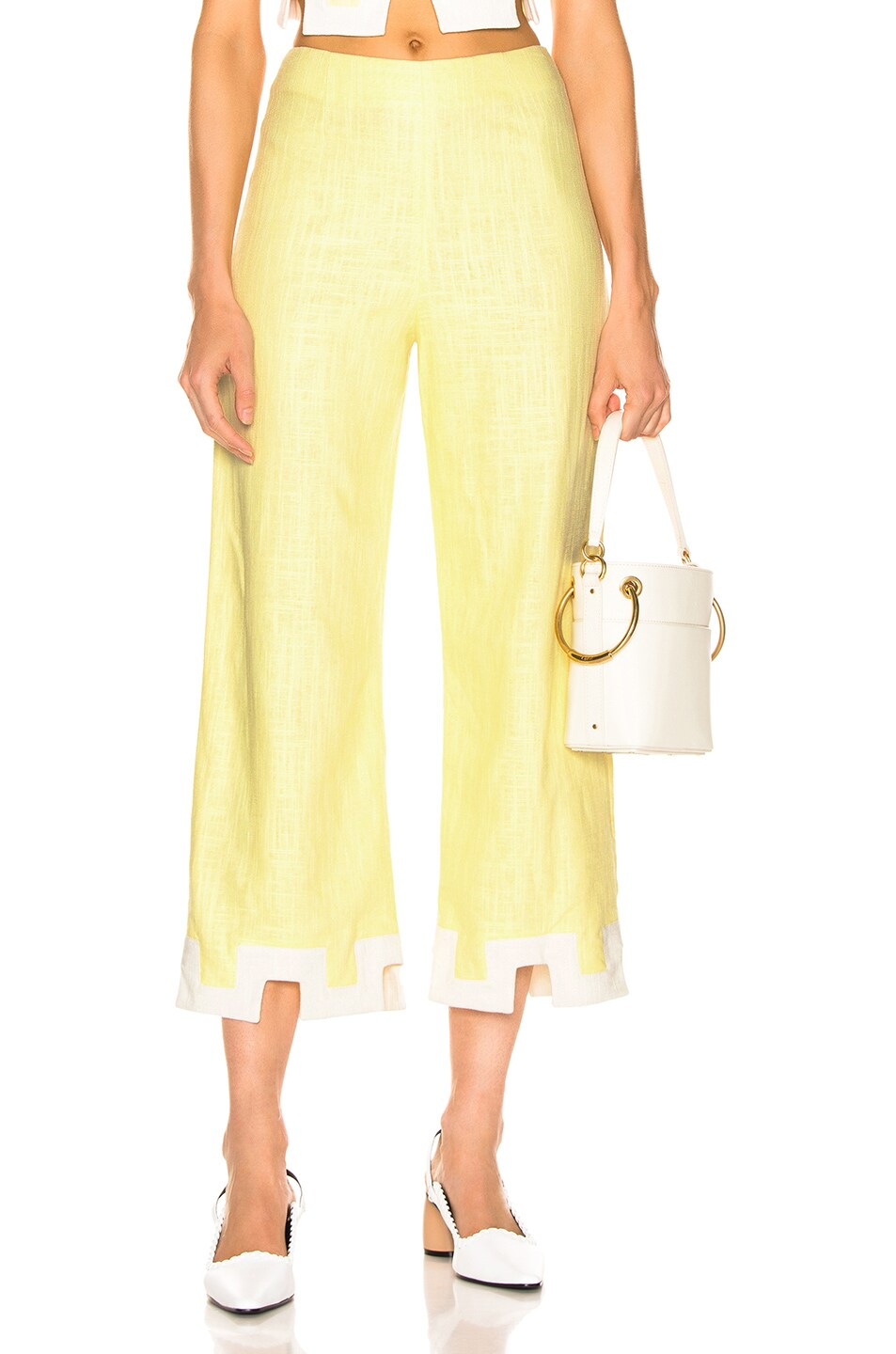 Image 1 of Staud Ponza Pant in Daffodil