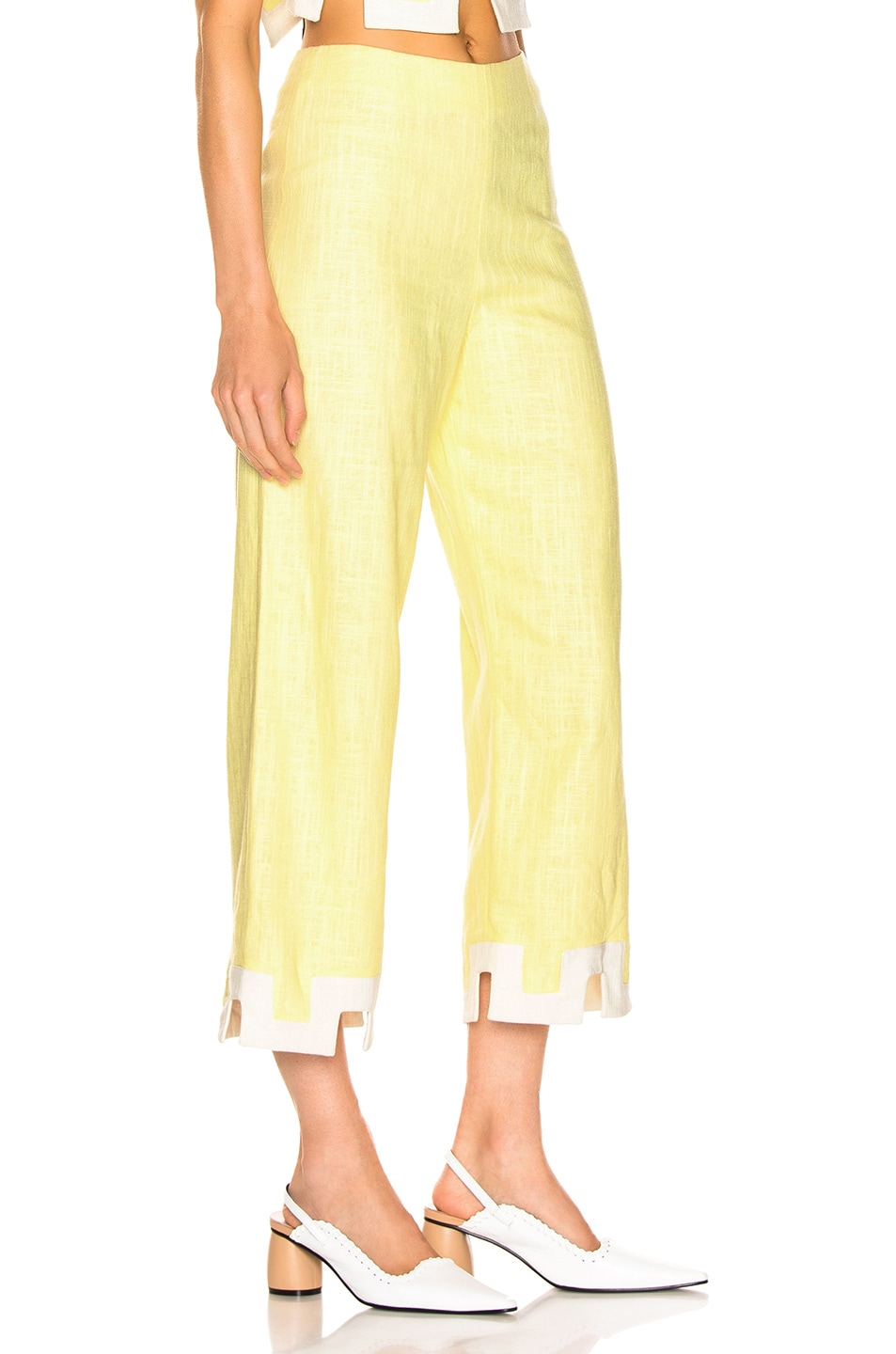 Image 2 of Staud Ponza Pant in Daffodil