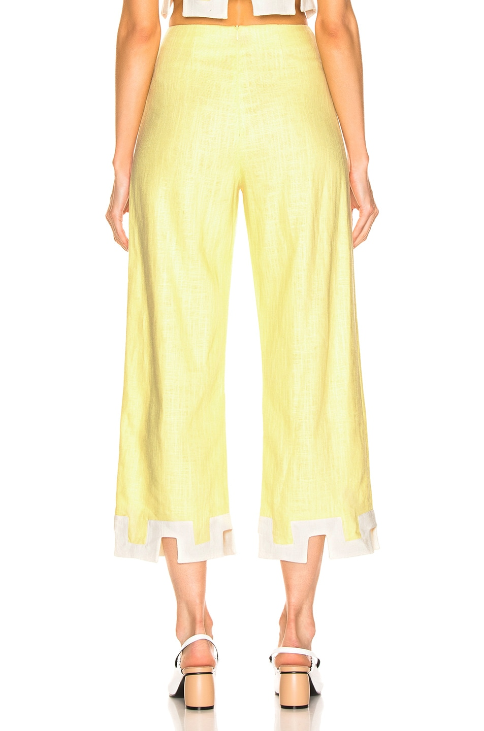Image 3 of Staud Ponza Pant in Daffodil