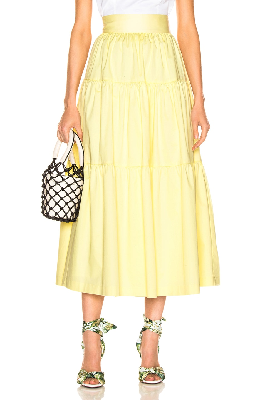 Image 1 of Staud Sea Skirt in Daffodil