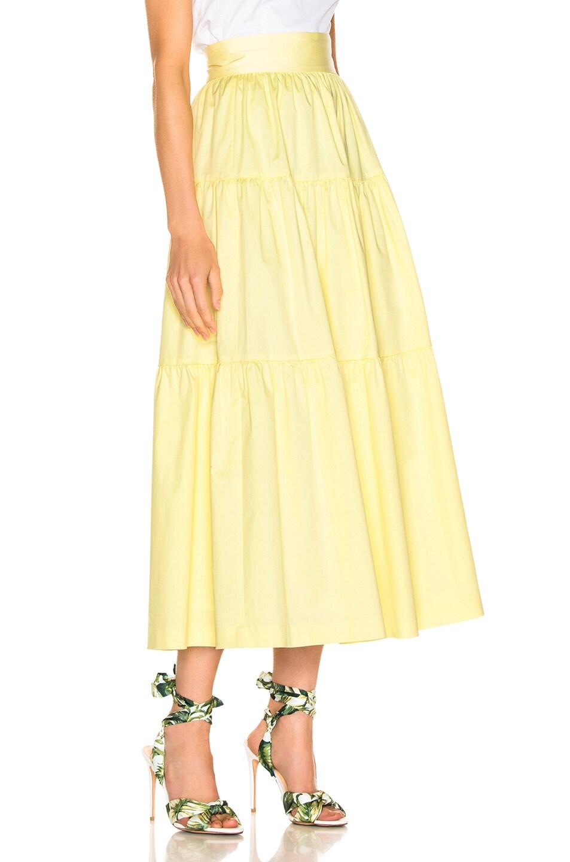 Image 2 of Staud Sea Skirt in Daffodil