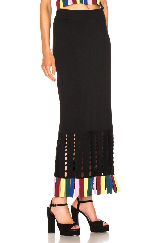 Image 2 of Staud Garage Skirt in Black & Rainbow