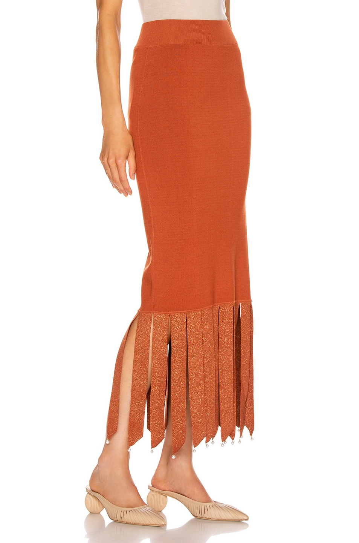 Image 2 of Staud Maze Skirt in Rust