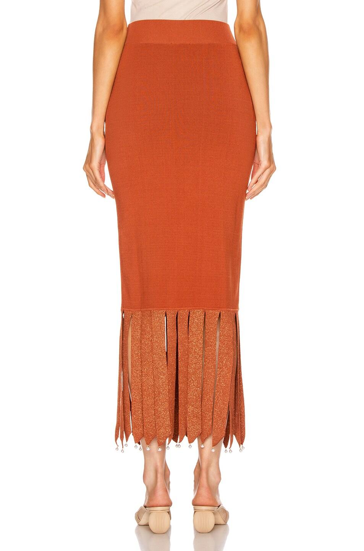 Image 3 of Staud Maze Skirt in Rust