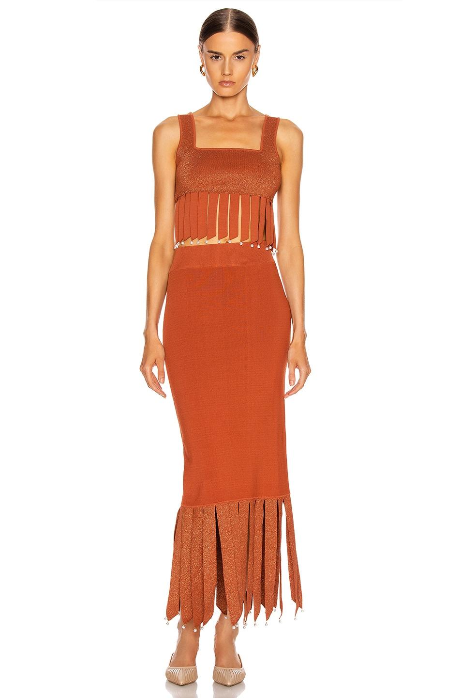 Image 4 of Staud Maze Skirt in Rust