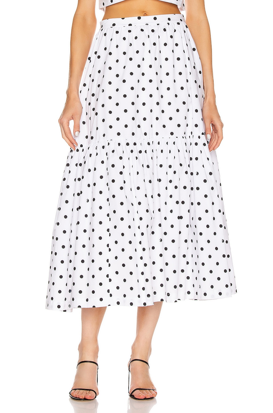 Image 1 of Staud Orchid Skirt in White Dot