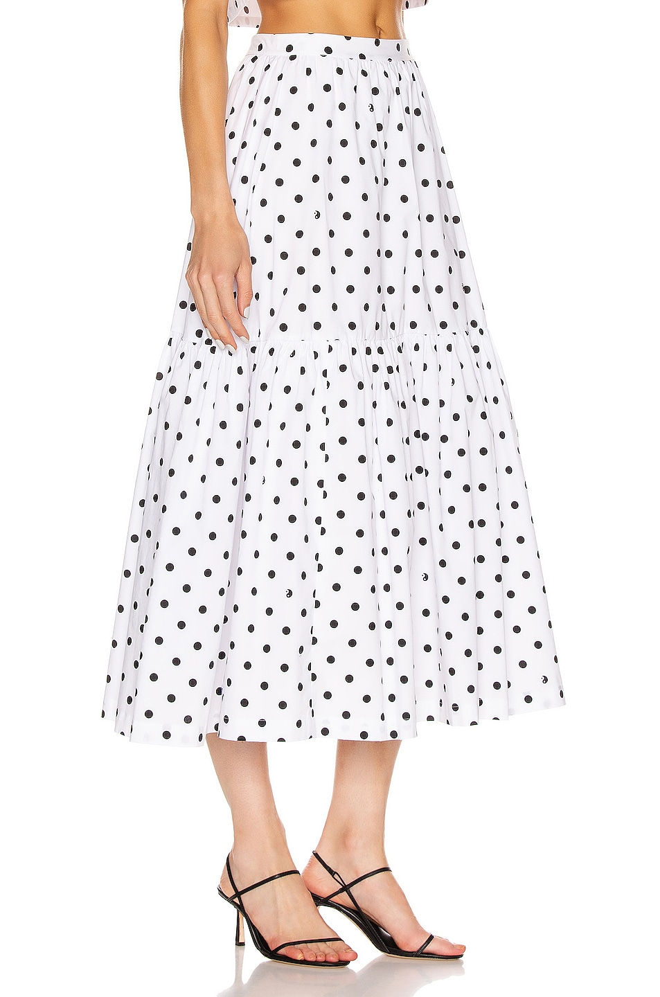 Image 2 of Staud Orchid Skirt in White Dot