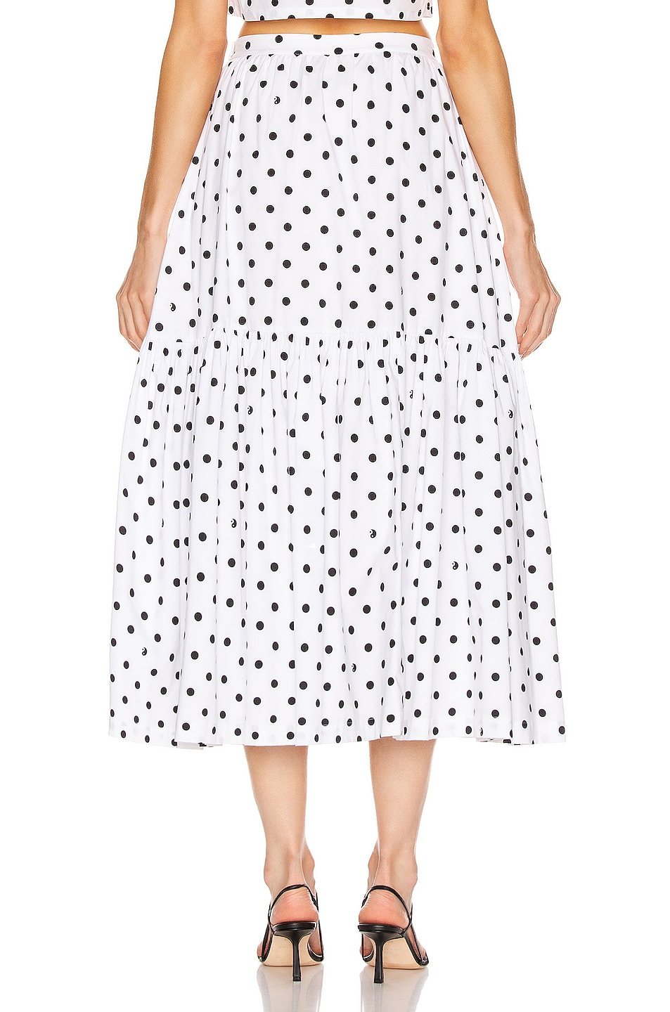 Image 3 of Staud Orchid Skirt in White Dot