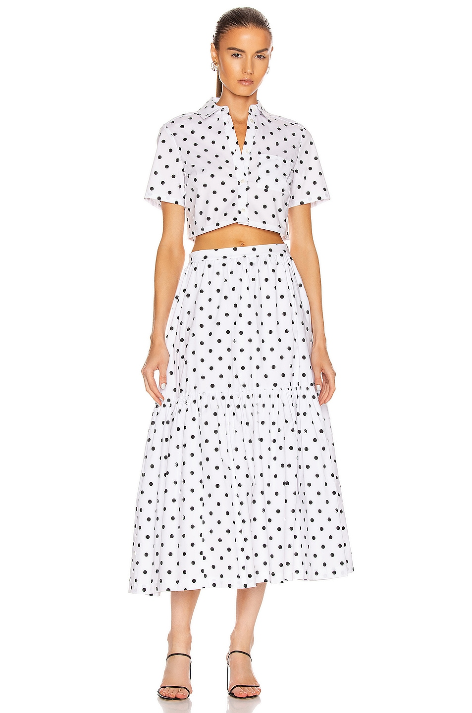 Image 4 of Staud Orchid Skirt in White Dot