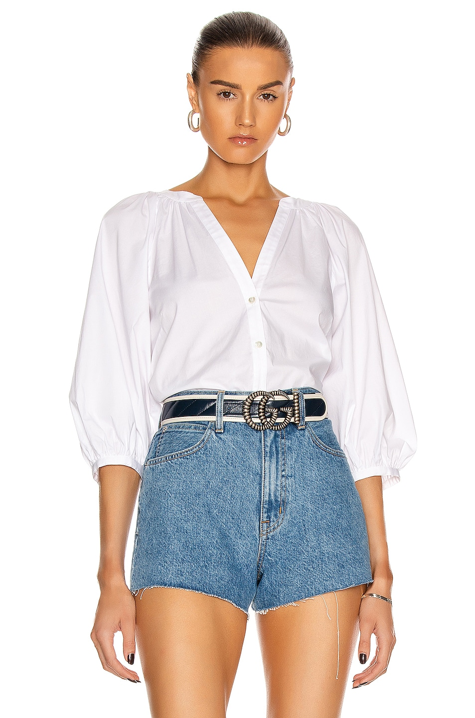Image 1 of Staud Dill Top in White