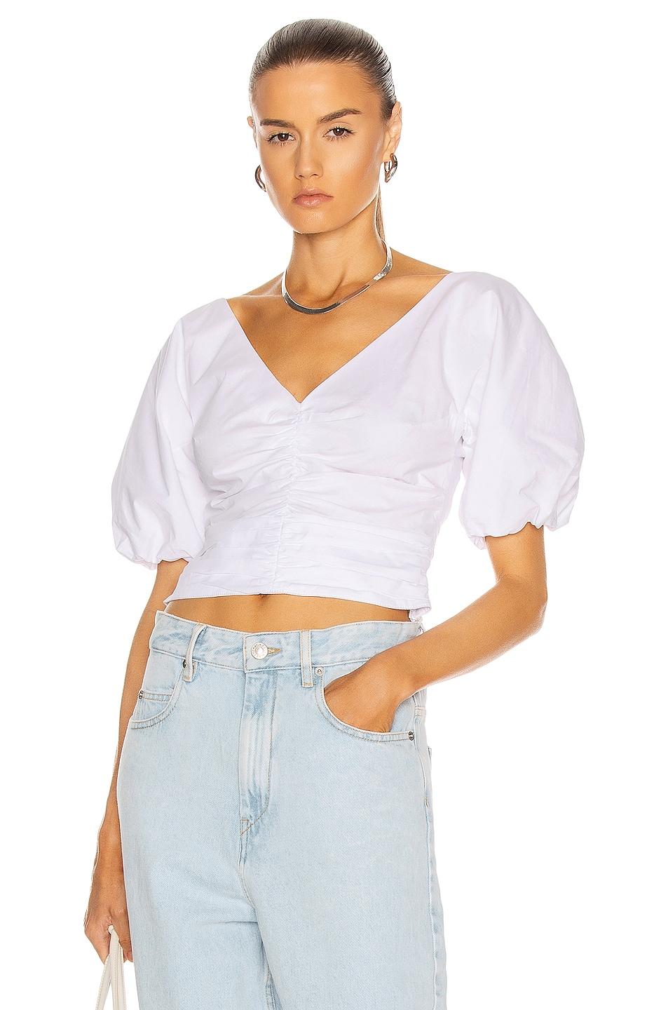Image 1 of Staud Fiona Top in White