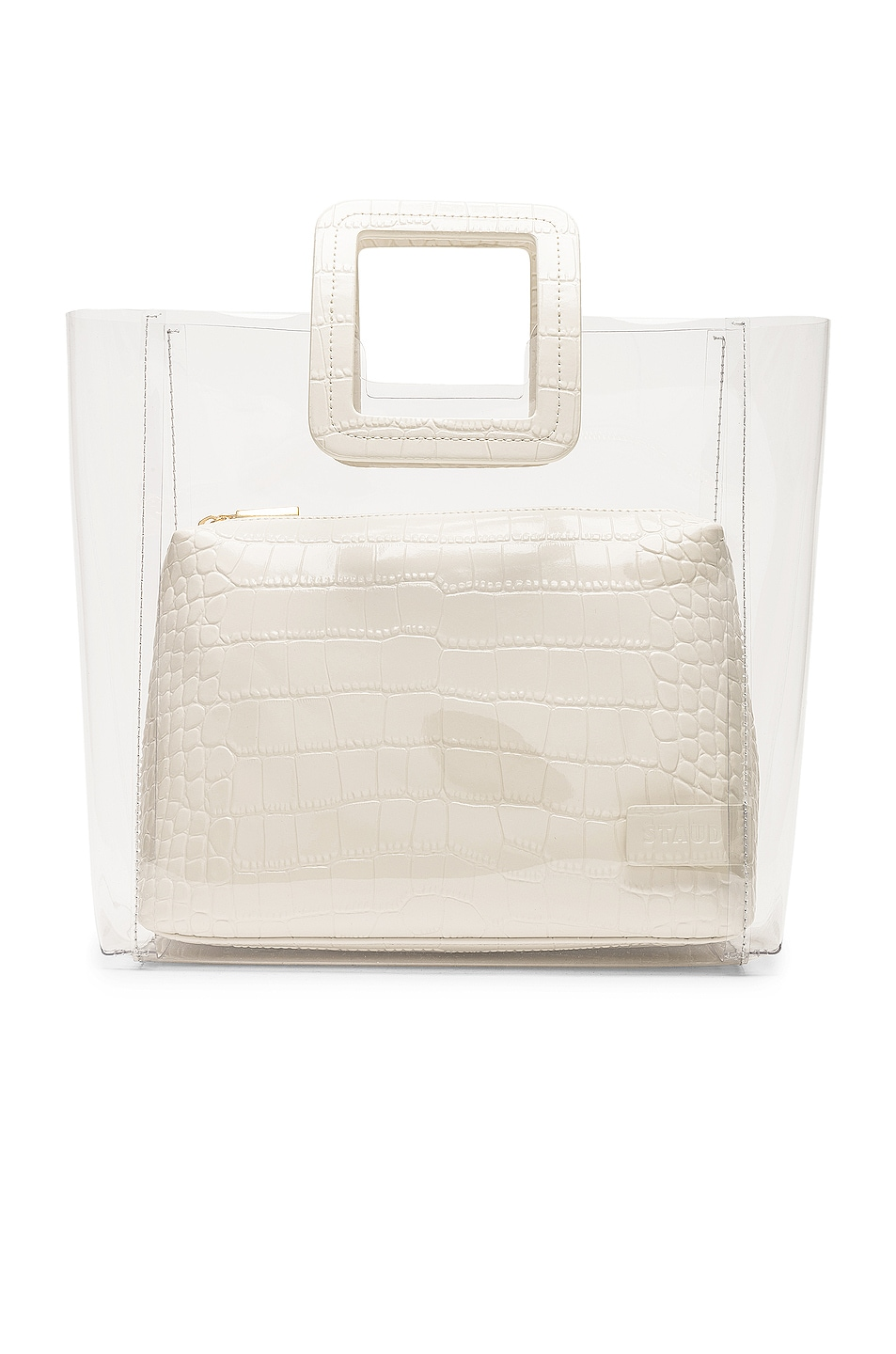 Image 1 of Staud Shirley Bag in Cream & Croc