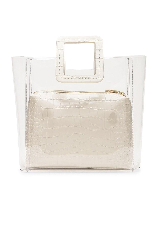 Image 3 of Staud Shirley Bag in Cream & Croc