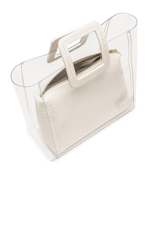 Image 5 of Staud Shirley Bag in Cream & Croc