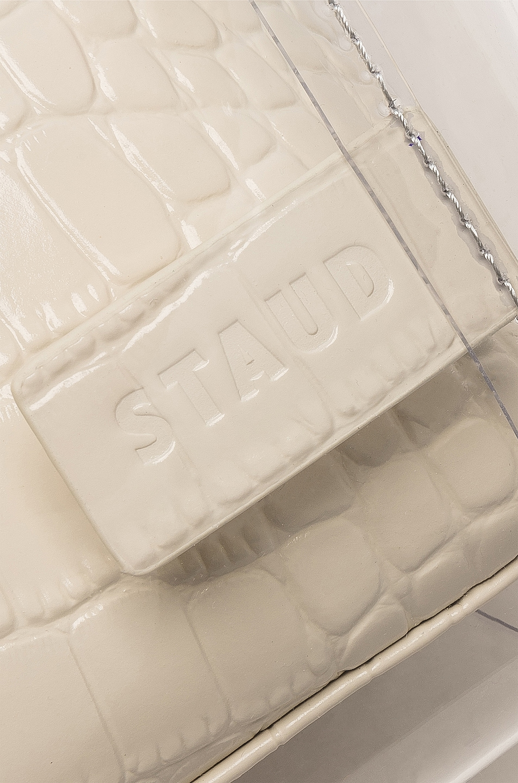 Image 6 of Staud Shirley Bag in Cream & Croc